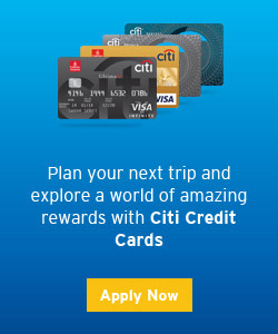 Plan your next trip and explore a world of amazing rewards with Citi Creait Cards
